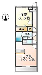 愛知県清須市春日夢の森の賃貸アパートの間取り