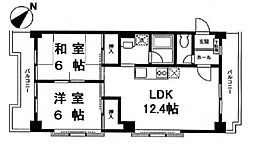 ピアハイツ[2階]の間取り
