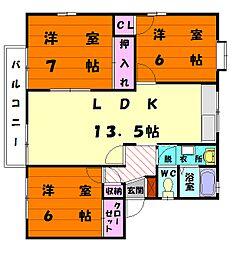 シーコーストハウス[2階]の間取り