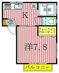 千葉県柏市豊上町の賃貸アパートの間取り
