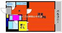 ピアグロリア奥田[4階]の間取り