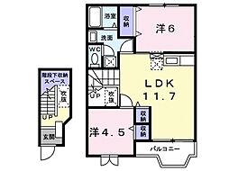 プリマヴェ−ラB[2階]の間取り