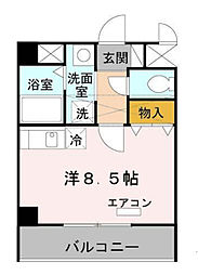 Osaka Metro中央線 阿波座駅 徒歩10分の賃貸マンション 3階1Kの間取り