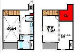 JR鹿児島本線 福工大前駅 徒歩6分の賃貸アパート 1階1SKの間取り