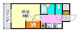 千葉県船橋市東船橋3丁目の賃貸マンションの間取り