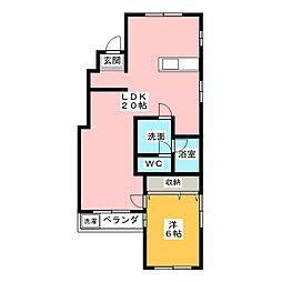 源氏ハイツ[2階]の間取り