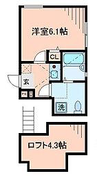 東京都狛江市岩戸北3丁目の賃貸アパートの間取り
