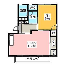 オリーブハウス B[1階]の間取り