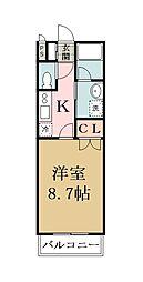 埼玉県草加市弁天1丁目の賃貸マンションの間取り
