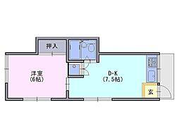 日生ハイツ[1階]の間取り