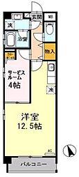 広島県広島市西区観音新町1丁目の賃貸マンションの間取り