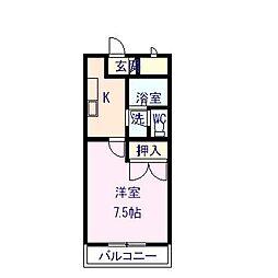 オレンジハウス・T103[103号室]の間取り