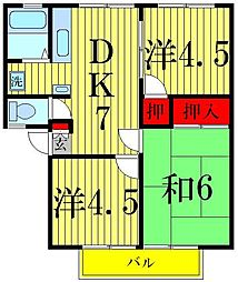 櫻シティA棟[1階]の間取り