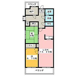 RM2高崎[3階]の間取り