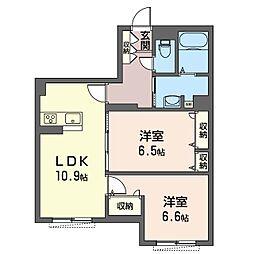 仮)中原区下小田中3丁目シャーメゾン[1階]の間取り