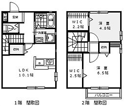 [テラスハウス] 広島県広島市安佐南区緑井3丁目 の賃貸【/】の間取り