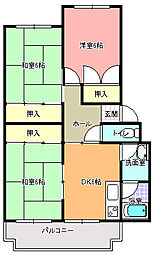 西大島マンション[4階]の間取り