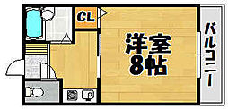 兵庫県川西市栄根2丁目の賃貸アパートの間取り