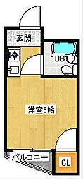 パルハイツウエダ[4階]の間取り
