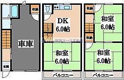 [一戸建] 大阪府東大阪市御厨3丁目 の賃貸【/】の間取り