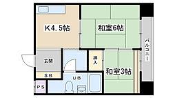 ニューヴィラ京都[205号室]の間取り