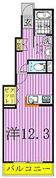 千葉県流山市大字東深井の賃貸アパートの間取り