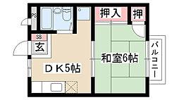 愛知県名古屋市天白区池場3丁目の賃貸アパートの間取り
