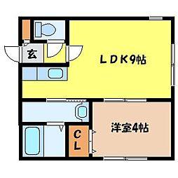 北海道札幌市中央区南七条西20丁目の賃貸マンションの間取り