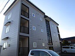北海道石狩郡当別町末広の賃貸アパートの外観