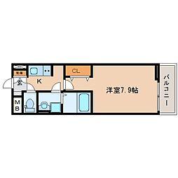 JR東海道本線 東静岡駅 徒歩12分の賃貸アパート 3階1Kの間取り