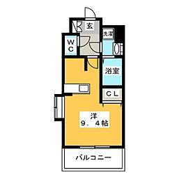 ツインズ博多 S館[8階]の間取り