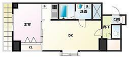 ノルデンタワー新大阪アネックス[14階]の間取り