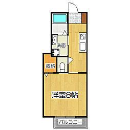 京都府京都市伏見区石田大山町の賃貸アパートの間取り