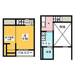 Blossom Meiji(ブロッサムメイジ)[2階]の間取り