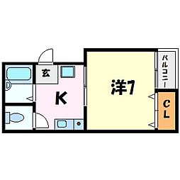 サンクレールII[3階]の間取り