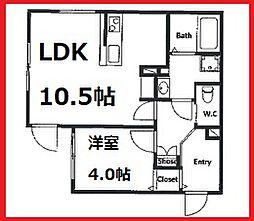 ブルーパレット赤羽弁天通り 1階1LDKの間取り
