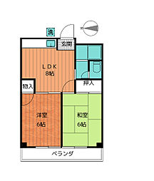 ビクトリーマンション吉山[3階]の間取り