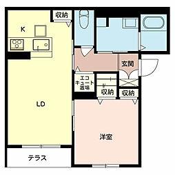 ソラーナ堺[1階]の間取り