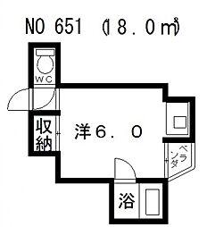 三明ハイツ[302号室号室]の間取り