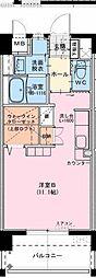 (仮称)江平中町マンション 7階ワンルームの間取り