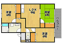 兵庫県神戸市西区玉津町二ツ屋2丁目の賃貸アパートの間取り