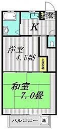 雲丹亀マンション[205号室]の間取り