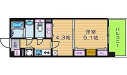 ライオンズマンション天王寺シティ[8階]の間取り