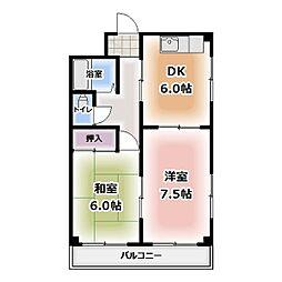 愛知県清須市須ケ口駅前2丁目の賃貸マンションの間取り