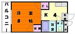 福岡県福岡市東区香住ケ丘2丁目の賃貸マンションの間取り