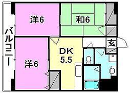 フロント・フィールド[102 号室号室]の間取り
