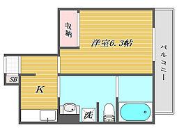 東京都北区東十条2丁目の賃貸マンションの間取り