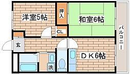 パルデンス妙法寺[201号室]の間取り
