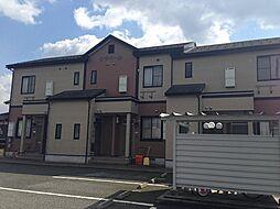富山県富山市八尾町黒田の賃貸アパートの外観