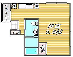 東京都板橋区舟渡2丁目の賃貸アパートの間取り